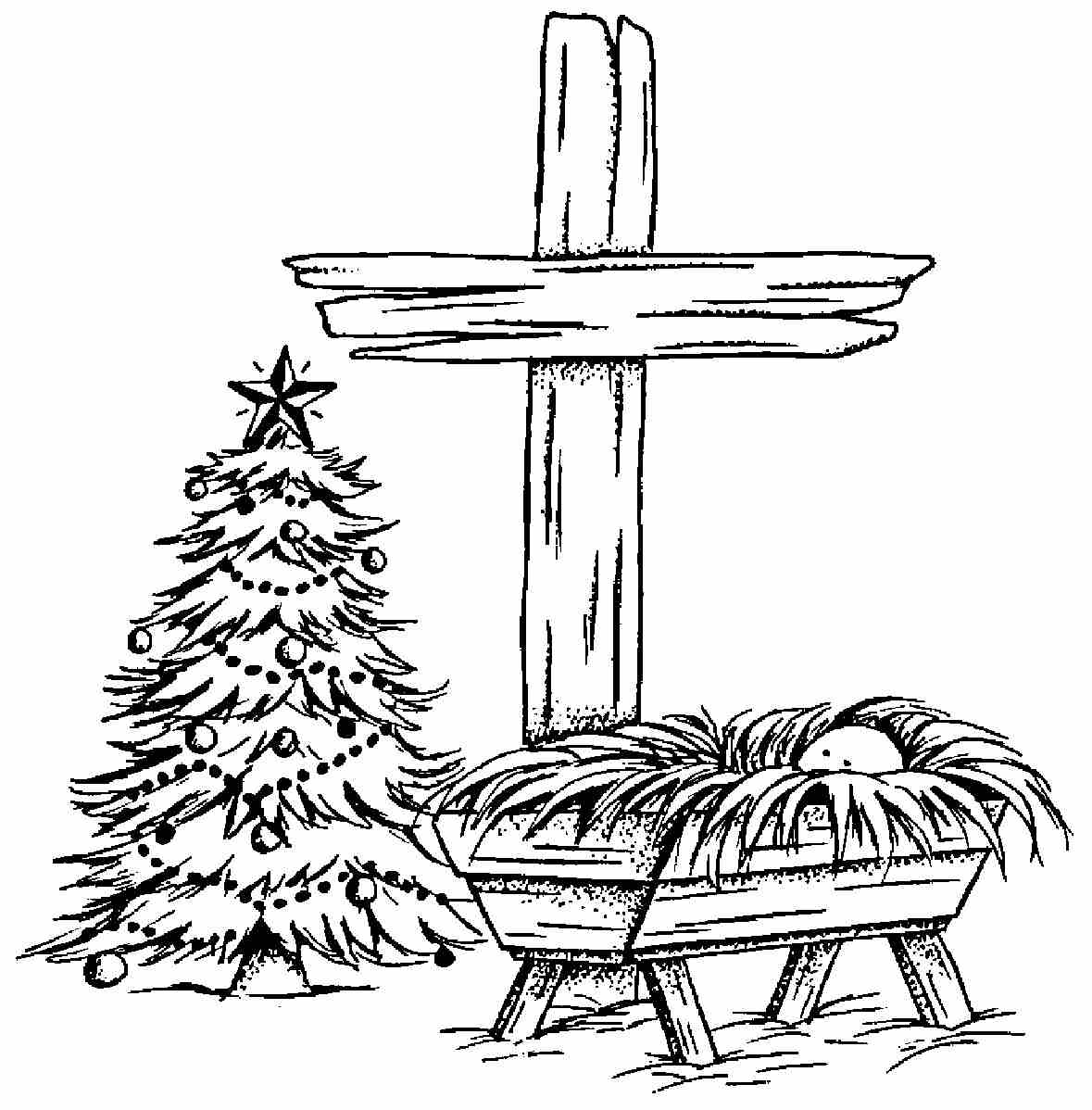 empty manger coloring pages - photo#24