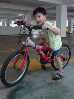 My boy and his bicycle